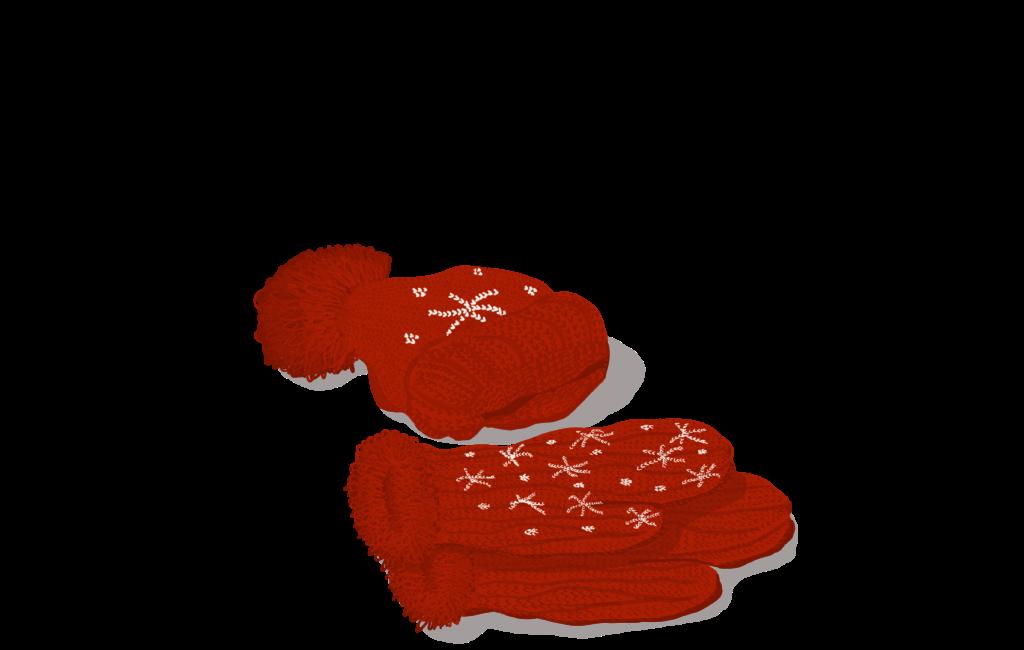 Mütze und Fäustlinge