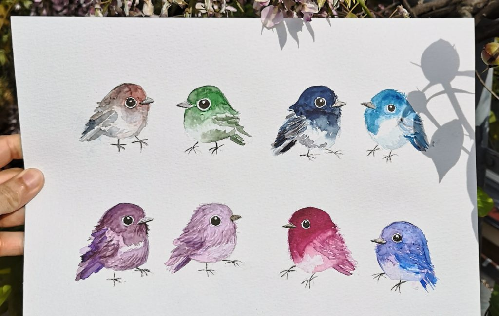 Little Watercolour Birds